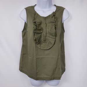 Marc Jacobs XS Green Sleeveless Tank Top Blouse